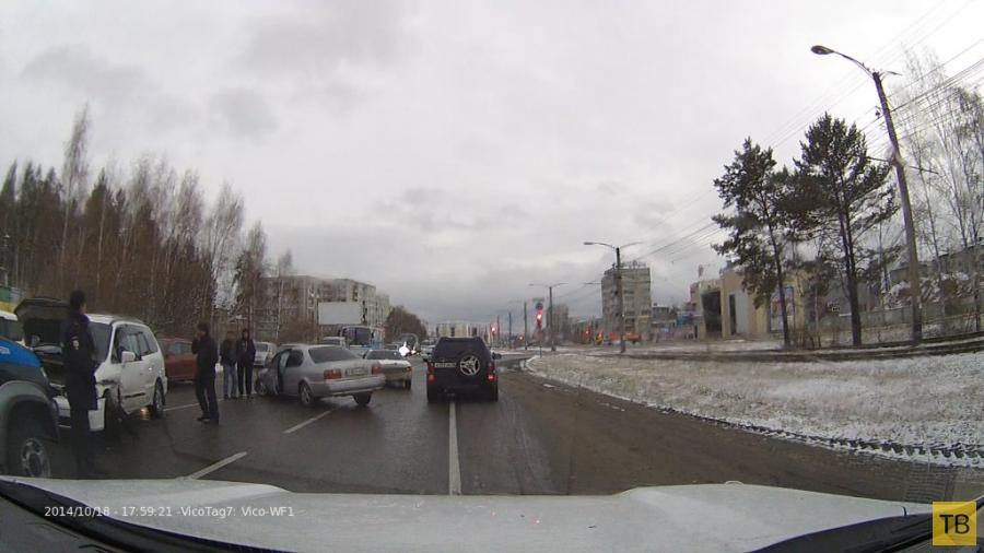 Оба хороши... Столкновение на перекрестке в г. Ангарск, Иркутской области
