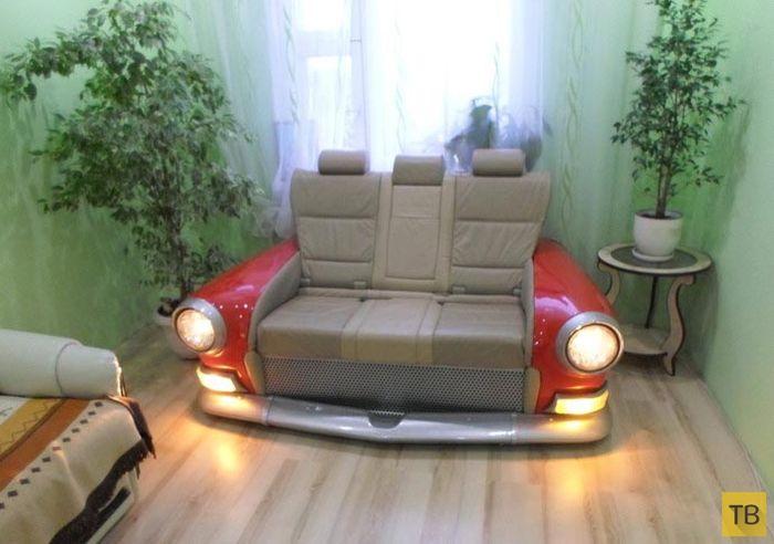 Диван в стилистике ГАЗ-21 за 5700$ (4 фото)