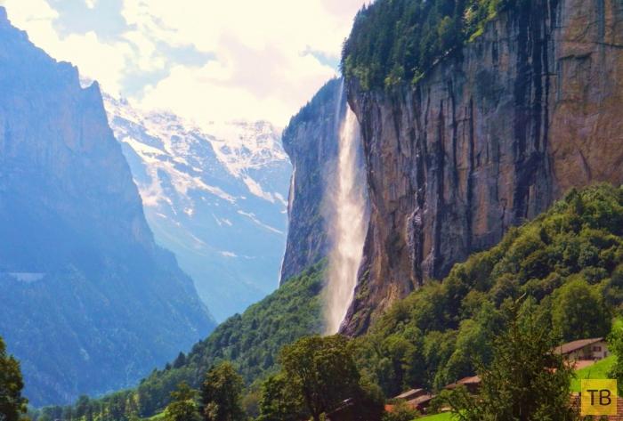 Самая известная достопримечательность Швейцарии - водопад Штауббах (8 фото)