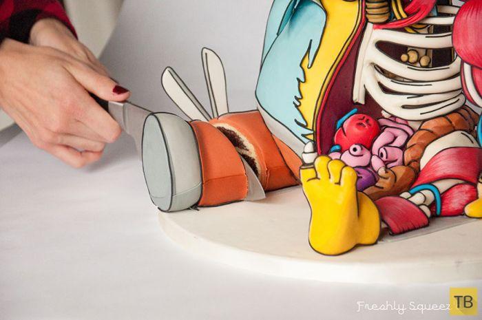 """Ральф из мультфильма """"Симпсоны"""" превратился в жуткий торт (20 фото)"""