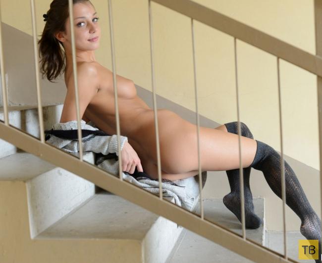 Красотка разделать на лестнице (24 фото)
