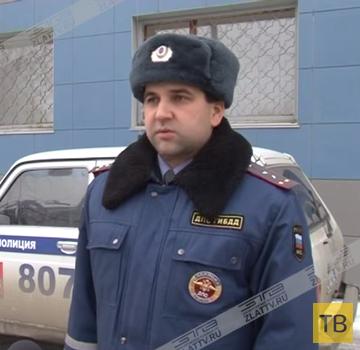 Ученика автошколы занесло по скользкой дороге на встречку... ДТП в г. Златоуст, Челябинская область
