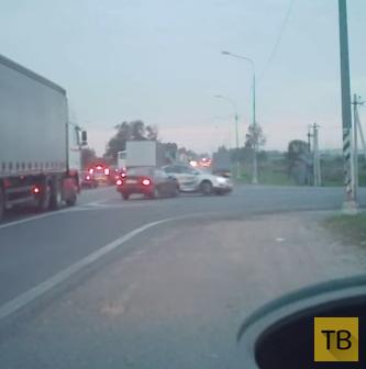Так ездить нельзя! ДТП на Мурманском шоссе, г. Санкт-Петербург
