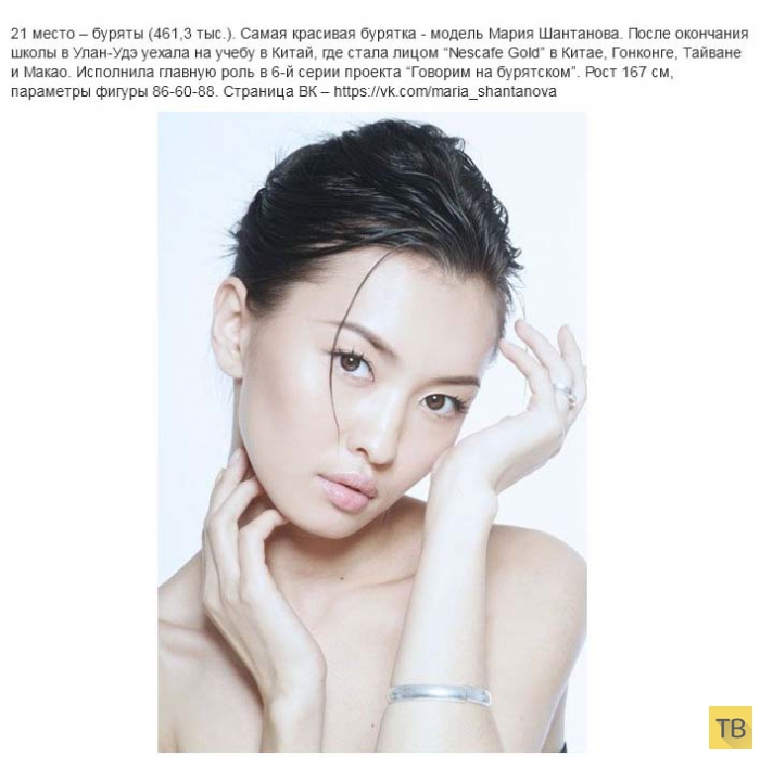Самые красивые представительницы различных народов России (40 фото)